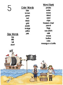 Pirate Themed Writing Pack