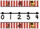 Pirate Themed giant classroom number line and student number lines