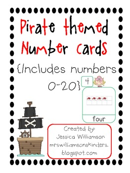 Pirate Themed number posters (0-20)