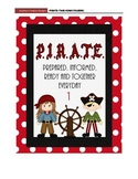 Pirate Themed take home folder covers