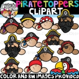 Pirate Toppers Clipart {Pirate Clipart}