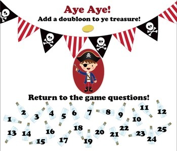 Pirate Treasure Challenge Standardized Test Taking Strategies Game Lesson