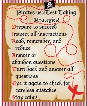 PIRATES Standardized Test Taking Strategies Lesson & Buccaneer Battle Game
