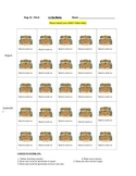 Pirate Treasure Chest Behavior Chart
