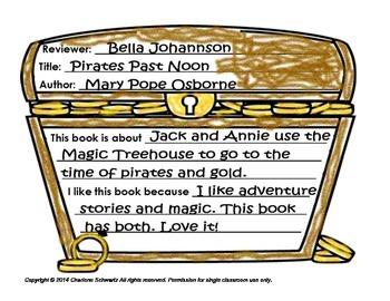 Pirate Treasure Chest Book Report