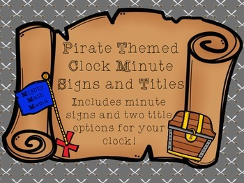 Pirate Treasure Chest Clock Minute Signs and Titles