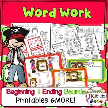 Pirate Treasure Fun!  Beginning & Ending Consonant Sounds Phonics Unit