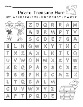 Pirate Treasure Hunt ABC Mazes