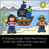 Math Mission: Pirate Treasure Hunt (Double Digit Addition-With Regrouping)