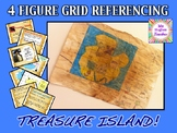 Pirate Treasure Island map 4 figure grid reference animated powerpoint