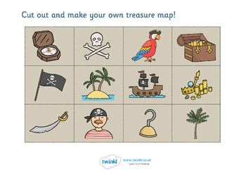 Pirate Treasure Map Activity