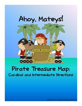 Pirate Treasure Map - Cardinal and Intermediate Directions Activity