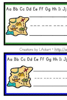 Pirate Treasure Map Desk / Name / Cubbie Tags