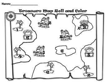 Pirate/Treasure Map roll and color (or cover)