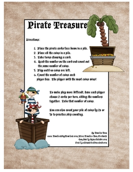 Pirate Treasure Math Game