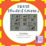 Pirate Treasure Reward Coupons - 50 Rewards for Classroom