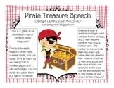Pirate Treasure Speech {FREEBIE}