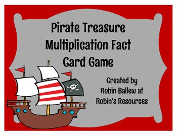Multiplication Facts Card Game: Pirate treasure theme