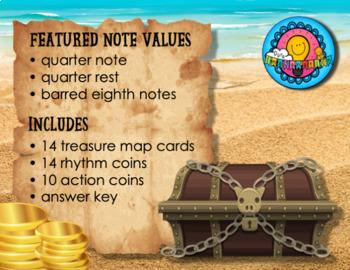 Pirate Treasures Rhythm Game Ta TiTi Rest Movement Breaks Station Center Sub