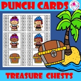 Pirate Trolls with Treasure Chests Behavior Incentive Punch Cards