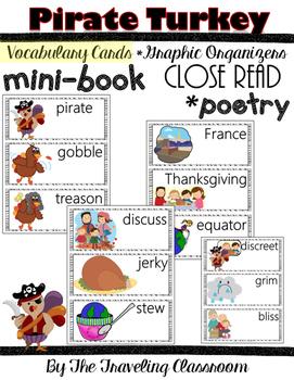 Pirate Turkey - Close Reading - Mini Book - Poetry