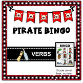 Pirate Verbs Bingo (Talk Like a Pirate Day Action Words)