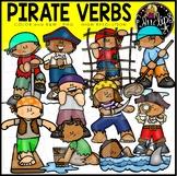 Pirate Verbs Clip Art Set {Educlips Clipart}