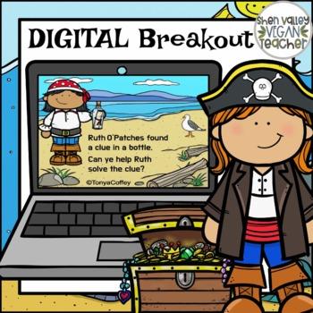 """Digital Escape Room """"Talk Like a Pirate"""" Gr. 3-5 Digital FREEBIE"""