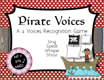 Pirate Voices -- An Interactive Four Voices Recognition Game (shouting version)