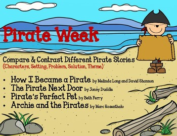 Pirate Week-Reading Chart-Compare & Contrast 4 Books - Stories - Summer School