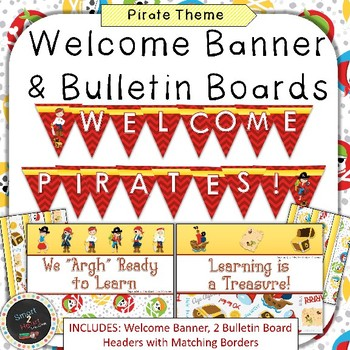 Pirate Welcome Banner & Bulletin Boards