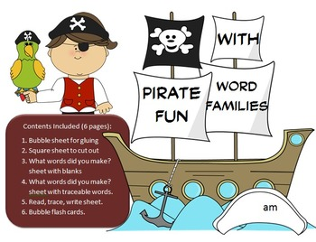 Pirate Word Family Fun -Activity/Projects- 61 word families, over 350 pages