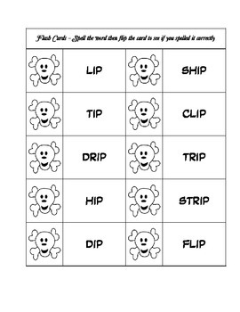 Pirate Word Family Fun - IP Word Family Activity/Project Set - NO PREP