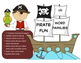 Pirate Word Family Fun - OB Word Family Activity/Project Set - NO PREP