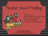 Pirate Word Finding Packet