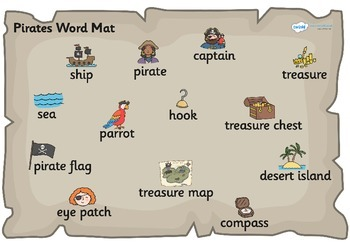 Pirate Word Mat