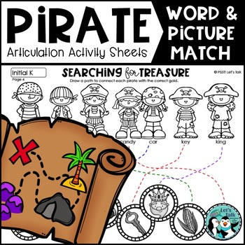 Pirate Word & Picture Matching for Articulation