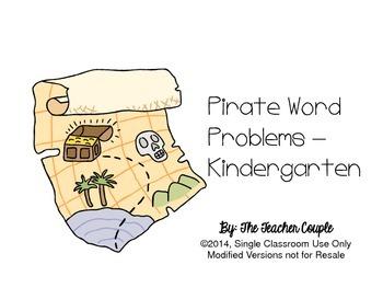 Pirate Word Problems - Kindergarten Common Core