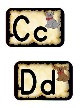 Pirate Word Wall Alphabet
