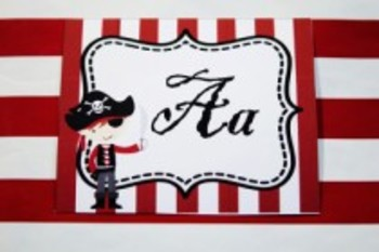 Classroom Decor Pirate Word Wall Alphabet Tags