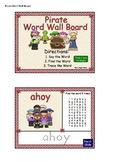 Pirate Word Wall Board SmartBoard Activity