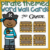Pirate Word Wall Cards 2nd Grade Sight Words