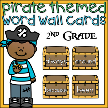 Word Wall Word Cards 2nd Grade Sight Words Pirate Theme Classroom Decor
