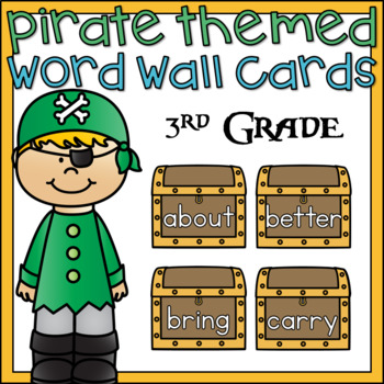 Word Wall Word Cards 3rd Grade Sight Words Pirate Theme Classroom Decor