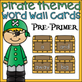 Pirate Word Wall Cards Pre Primer Sight Words