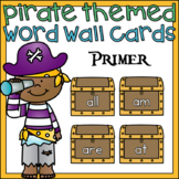 Pirate Word Wall Cards Primer Sight Words
