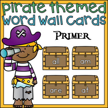 Word Wall Word Cards Primer Sight Words Pirate Theme Classroom Decor