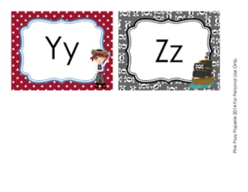 Pirate Word Wall Headers