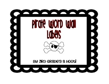 Pirate Word Wall Labels