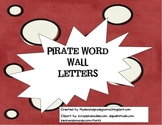 Pirate Word Wall Letters